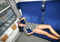 Tess in Compartment (nude photo 12 of 16)
