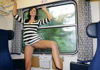 Tess in Compartment (nude photo 15 of 16)