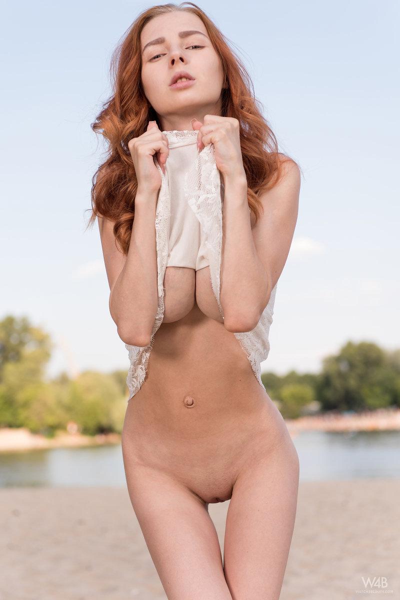 Huge tits on skinny and petite girl helga grey