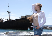 Angel B in Shipwreck by Watch4Beauty (nude photo 2 of 16)