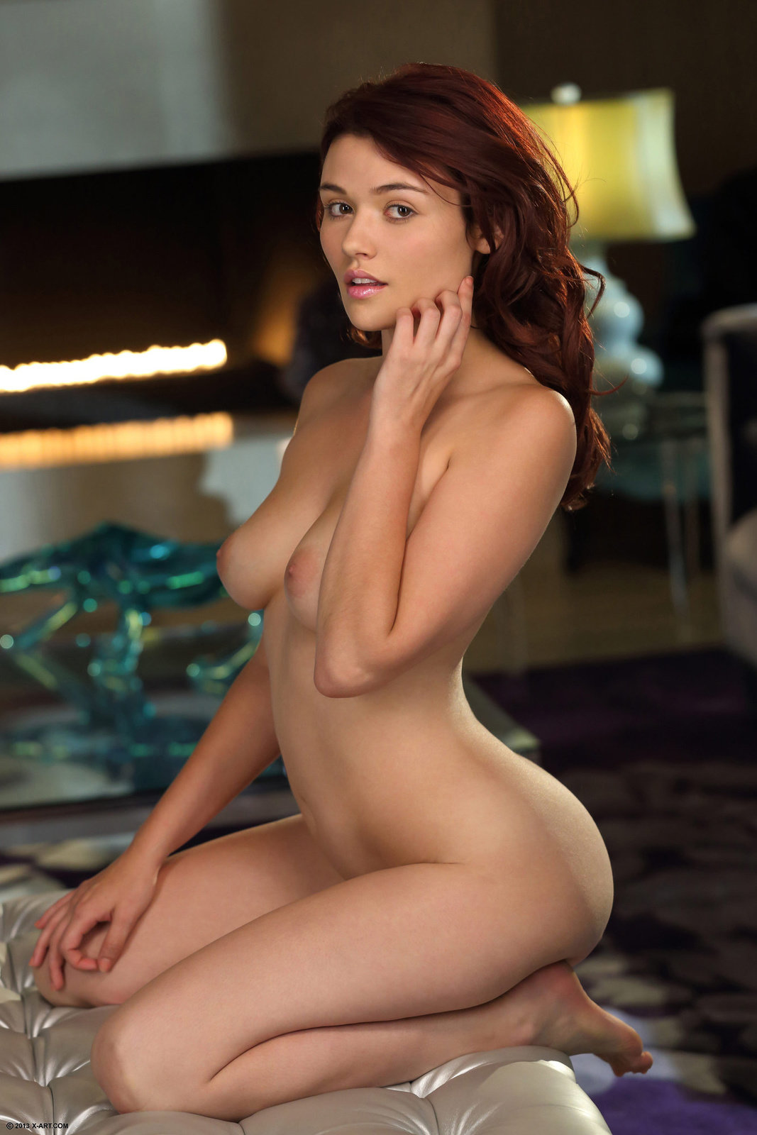 Beautiful Redhead Vixen Christine Poses Naked In The -9890